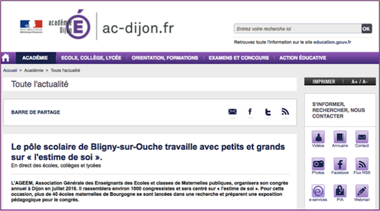 EN DIRECT DES EXPOS…sur le site du rectorat de Dijon !